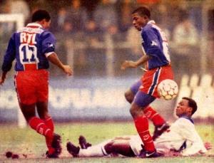 Antoine Kombouaré et Oumar Sène