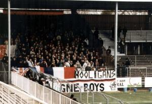 Les supporters parisiens présents dnas l'Yonne