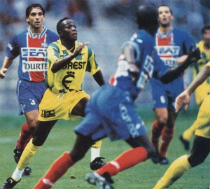 Patrick Colleter, George Weah (de dos) et Paul Le Guen