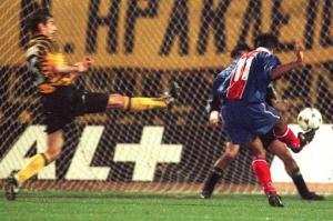 L'un des trois buts de Patrice Loko