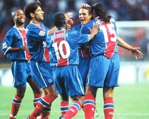 La joie des parisiens après le but