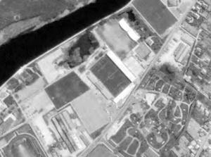 Vue aérienne du Stade de l'Abbé-Deschamps