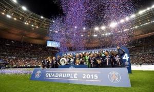 Les vainqueurs des quatre trophées nationaux de la saison : La Ligue 1, la Coupe de France, la Coupe de la Ligue et le Trophée des Champions!