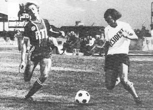 Lionel Justier à la lutte avec Keruzoré (archives MK)