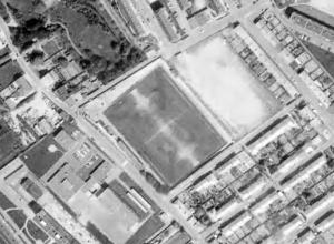 Vue aérienne du stade Pierre-Blouen