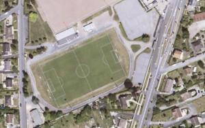 Vue aérienne du stade municipal de Déols