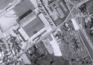 Vue aérienne du stade Marcel-Picot en travaux