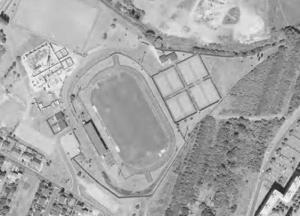 Vue aérienne du stade de Saint-Gratien