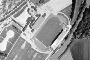 Vue aérienne du stade de l'Aube