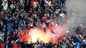 Les supporters contestataires ont fait le déplacement à Porto