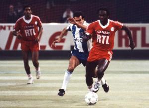 Jules Bocandé balle au pied lors d'une des deux confrontation face à Porto (archives MK)