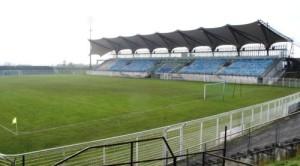 La tribune principale du stade Jacques-Rimbault