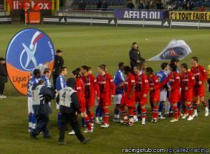 L'es deux équipes avant le match (racingstub.com)