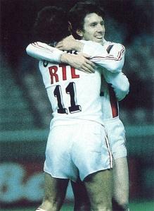 La joie de Pierre Reynaud, pour son premier but avec le PSG