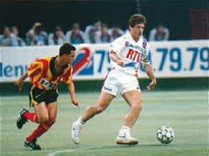 Safet Susic lors d'un des deux match contre Tunis