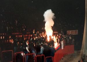 Les supporters du Kop de Boulogne lors d'une des deux soirée du Tournoi