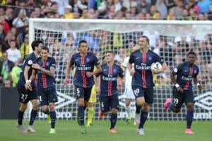 La révolte des parisiens en une image, après l'égalisation de Zlatan Ibrahimovic (JS Evrard)