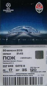 (colection PSG Foot Tickets)