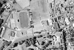 Vue aérienne du stade Firmin-Daudou
