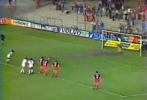 L'ouverture du score nancéienne sur un penalty fort généreux...