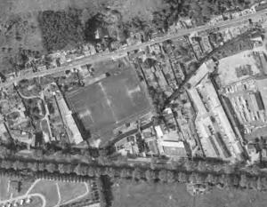 Vue aérienne du stade Cambolle