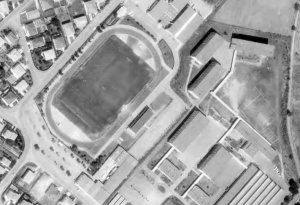 Vue aérienne du Stade Pierre-Ilbert