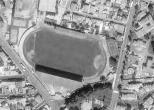 Vue aérienne du Stade Gilbert-Brutus