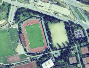 Vue aérienne du Stade Dominique-Duvauchelle