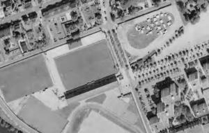 Vue aérienne du stade Emile-Albeau