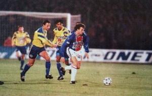 Ginola lors de la victoire à Sochaux en 1995