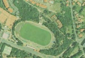 Vue aérienne du Stade de la Rudelière