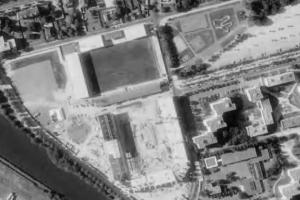 Vue aérienne du Stade Émile-Albeau