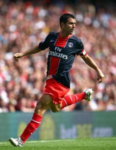 Le capitaine Pauleta sur la pelouse de l'Emirates Stadium