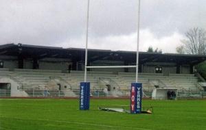 La tribune du Stade Léo-Lagrange