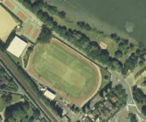 Vue aérienne du Stade des Bords-de-Seine