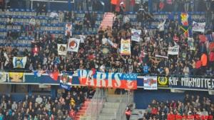 Les supporters contestataires ont finalement pu assister au match et supporter nos joueurs...