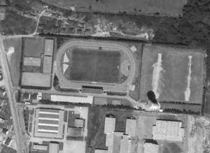 Vue aérienne du stade Le -Dantec